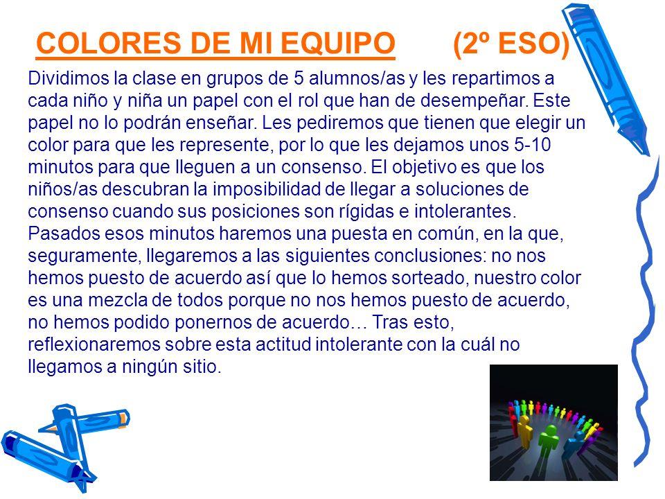 COLORES DE MI EQUIPO (2º ESO)
