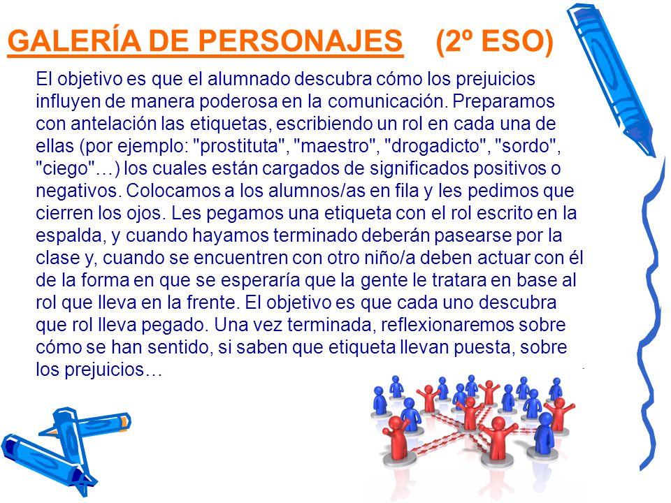 GALERÍA DE PERSONAJES (2º ESO)