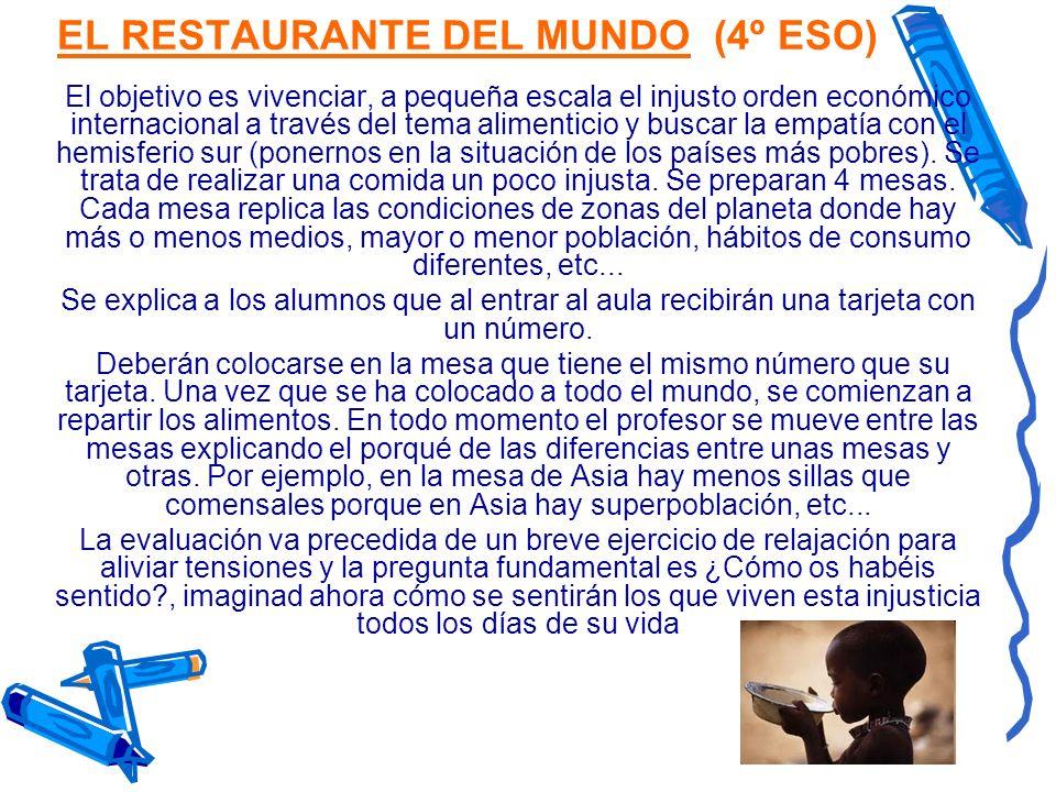 EL RESTAURANTE DEL MUNDO (4º ESO)