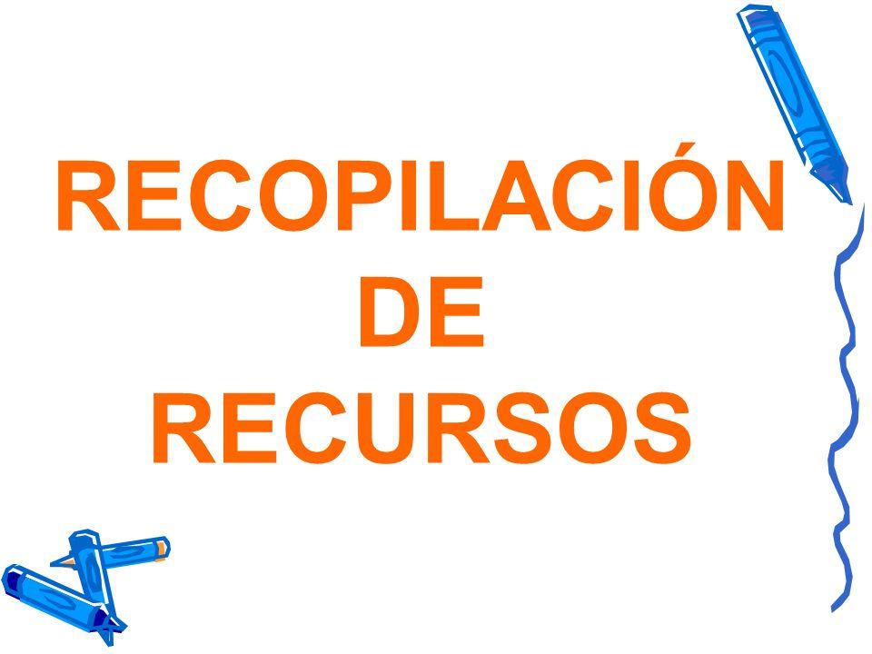RECOPILACIÓN DE RECURSOS