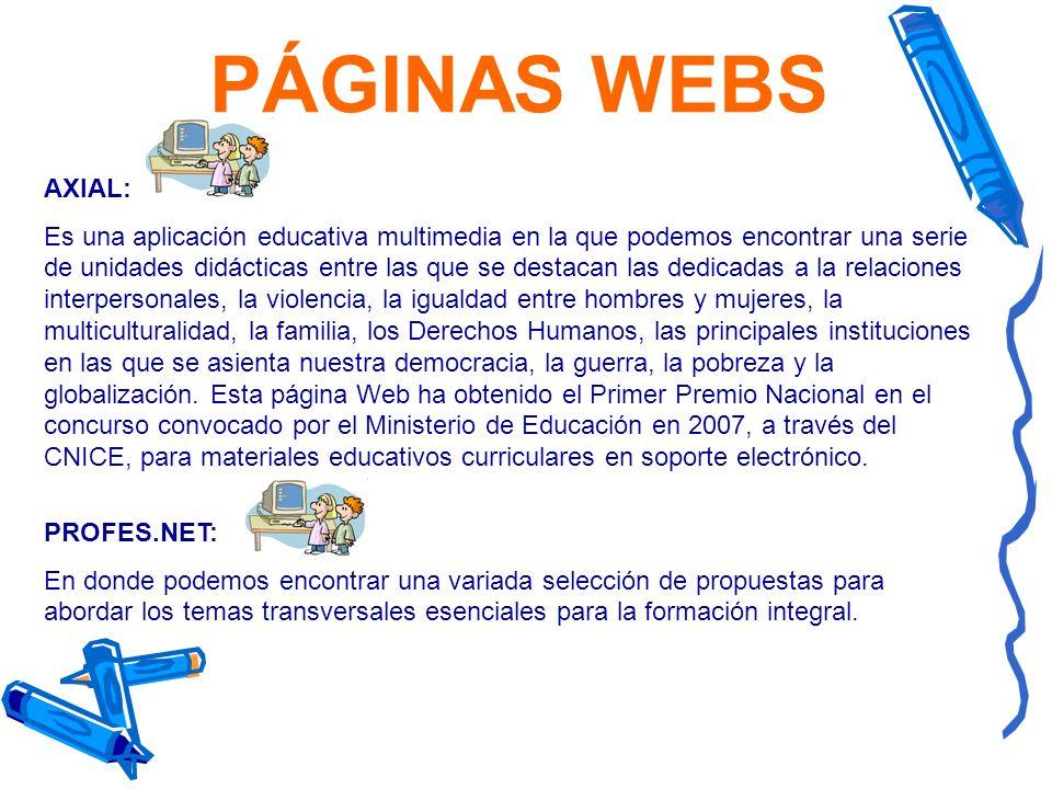 PÁGINAS WEBS AXIAL: