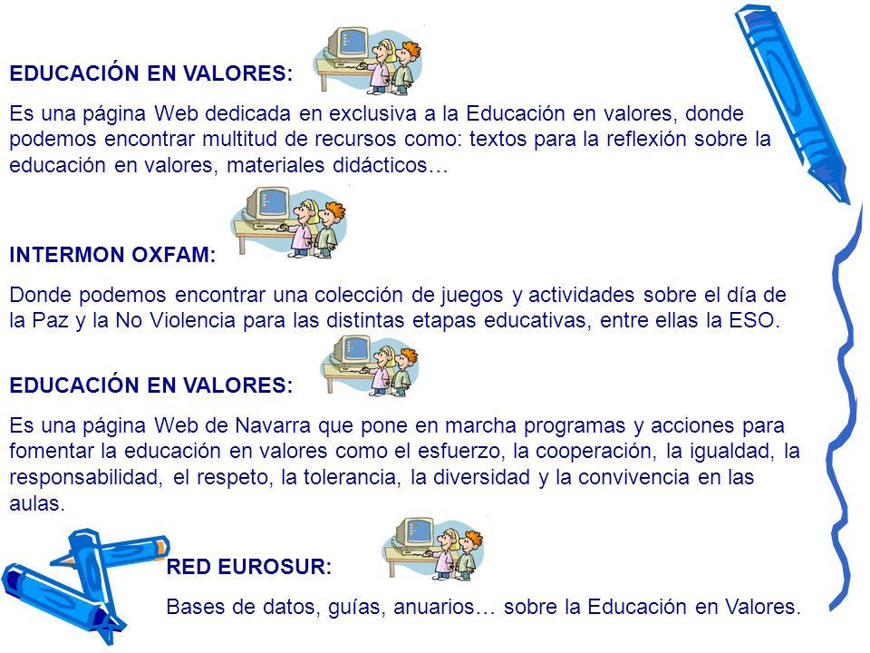 EDUCACIÓN EN VALORES: