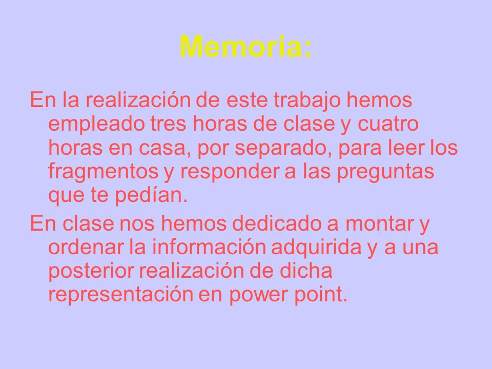 Memoria: