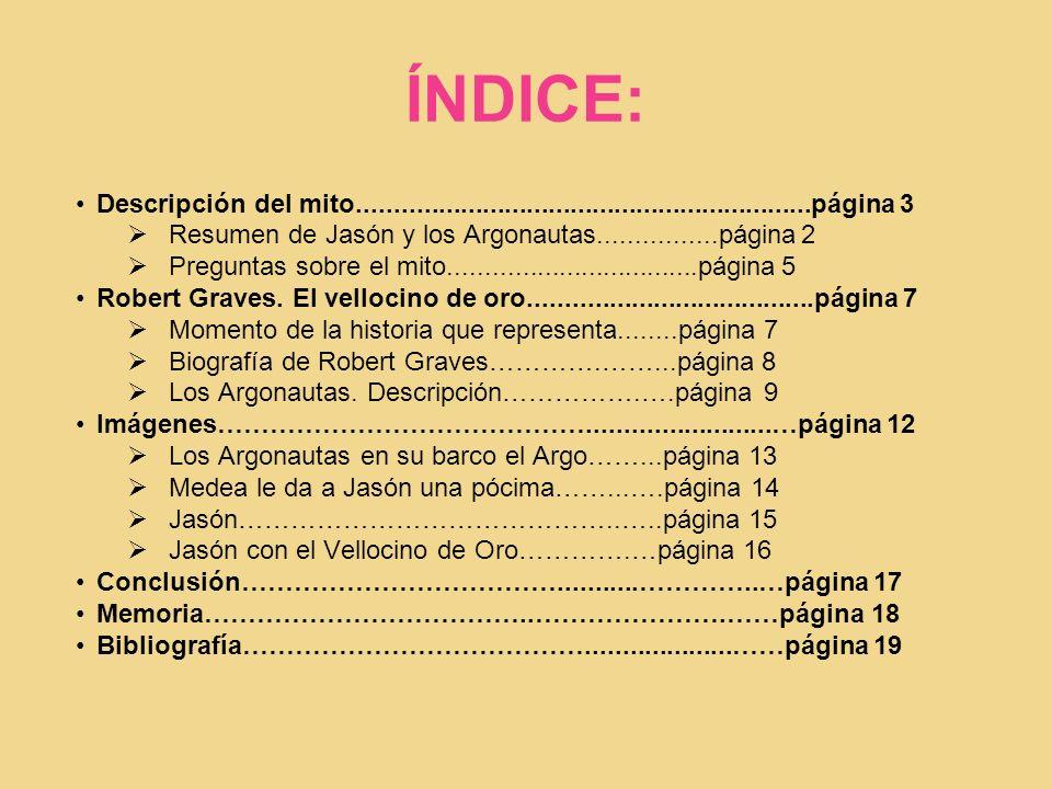 ÍNDICE: Descripción del mito..............................................................página 3.