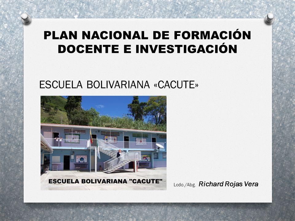 PLAN NACIONAL DE FORMACIÓN DOCENTE E INVESTIGACIÓN