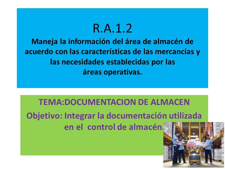 TEMA:DOCUMENTACION DE ALMACEN
