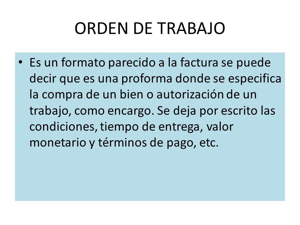 ORDEN DE TRABAJO