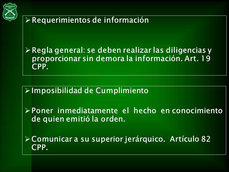 Requerimientos de información