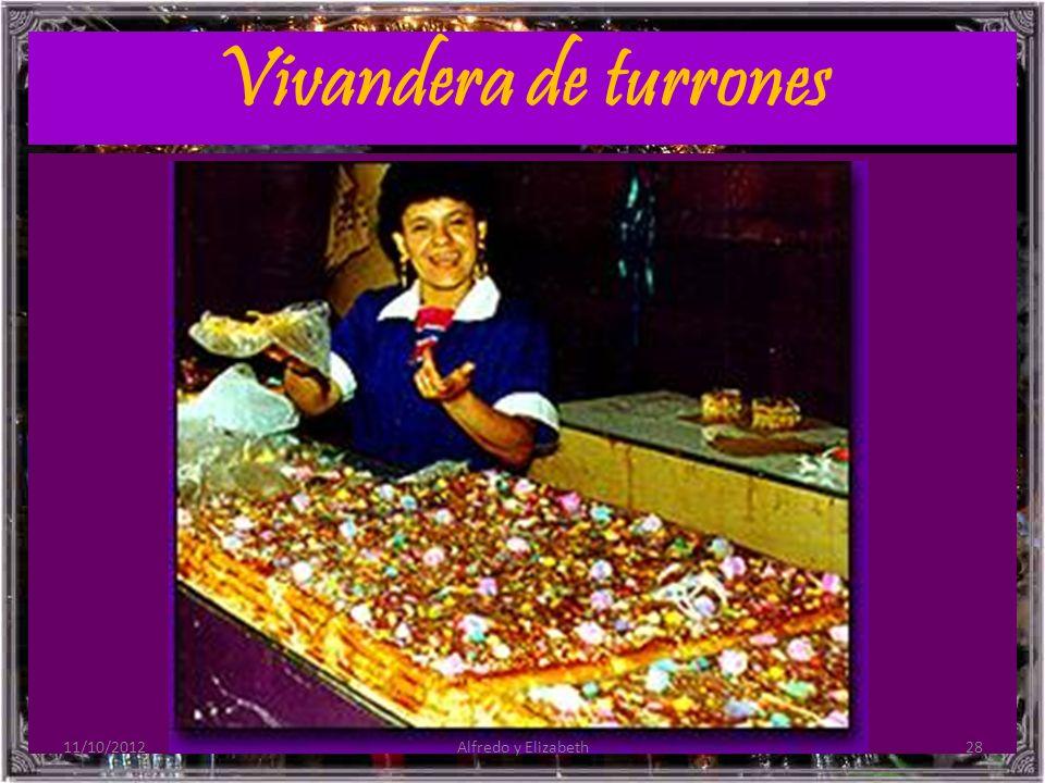 Vivandera de turrones 11/10/2012 Alfredo y Elizabeth
