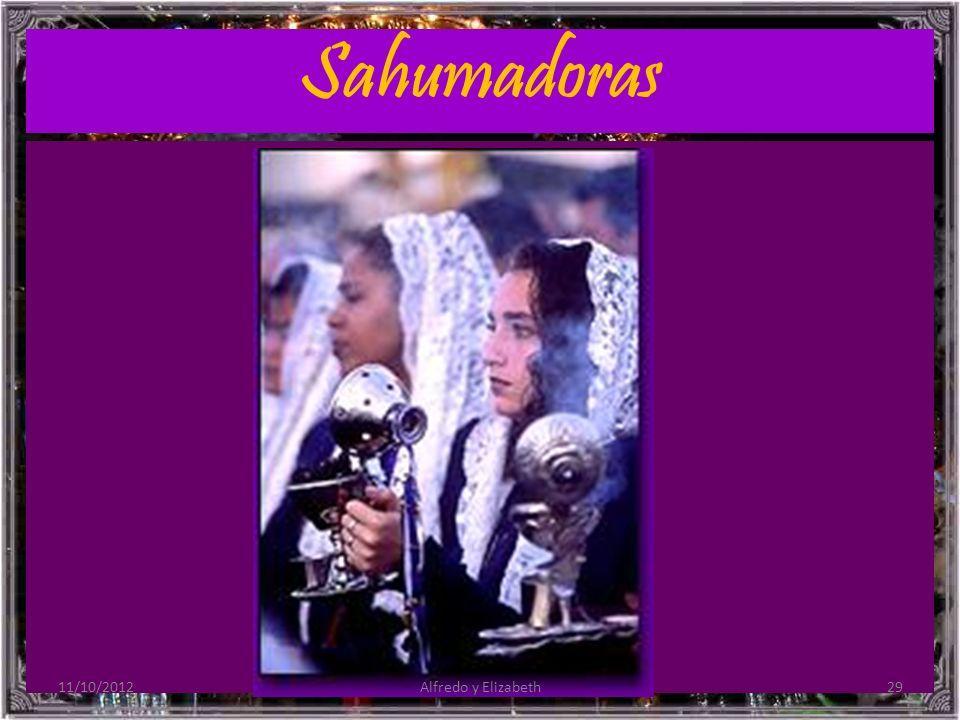 Sahumadoras 11/10/2012 Alfredo y Elizabeth