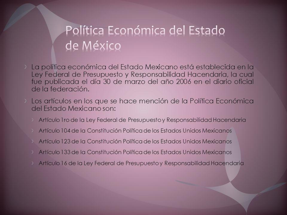 Política Económica del Estado de México