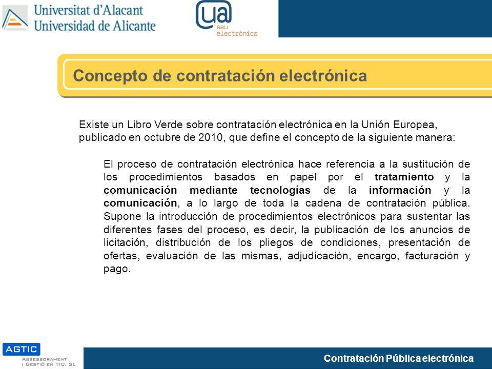 Concepto de contratación electrónica