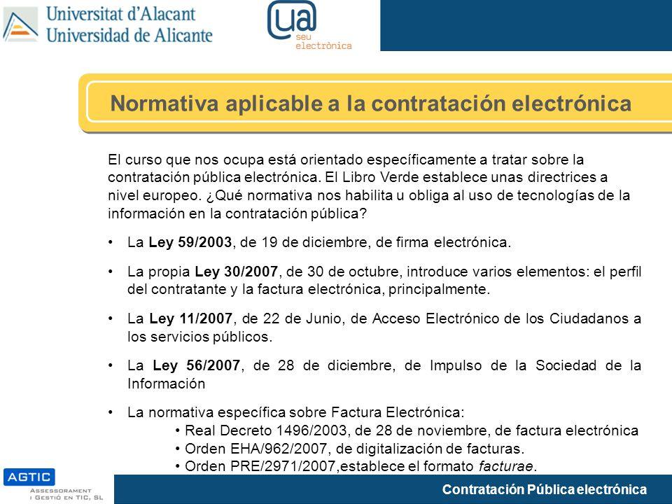 Normativa aplicable a la contratación electrónica