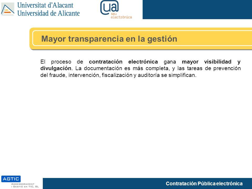 Mayor transparencia en la gestión