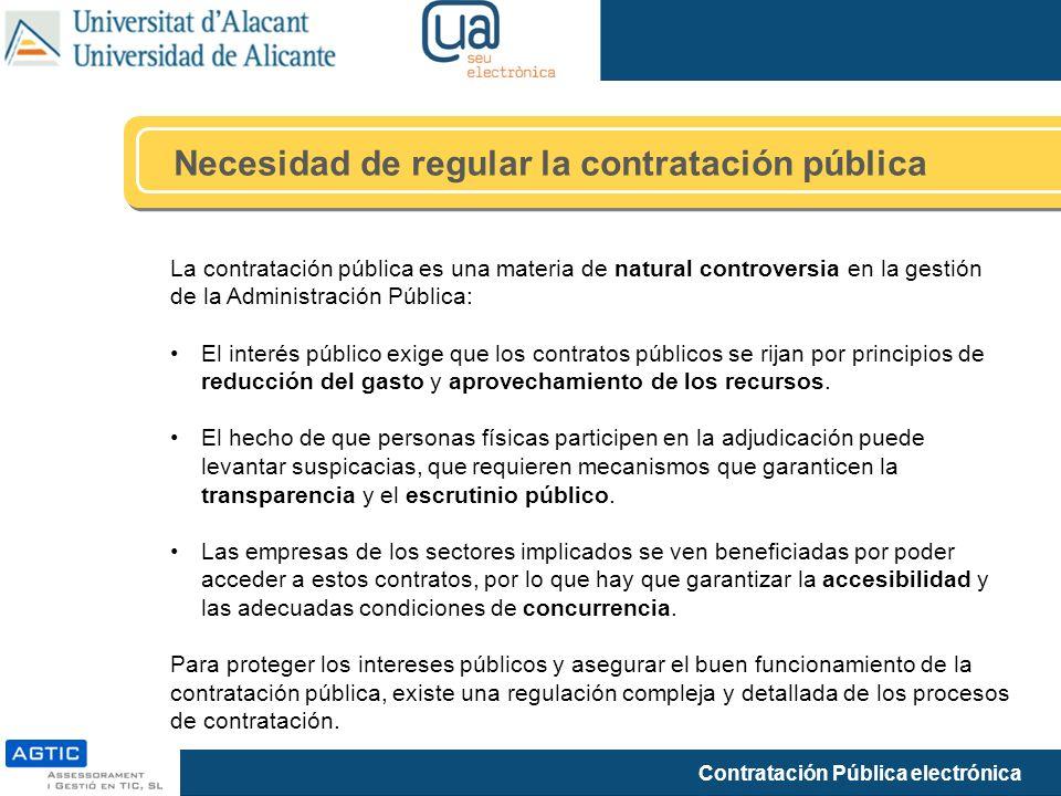 Necesidad de regular la contratación pública