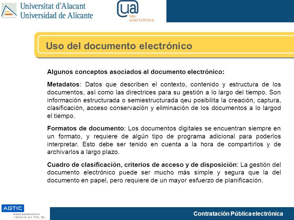Uso del documento electrónico