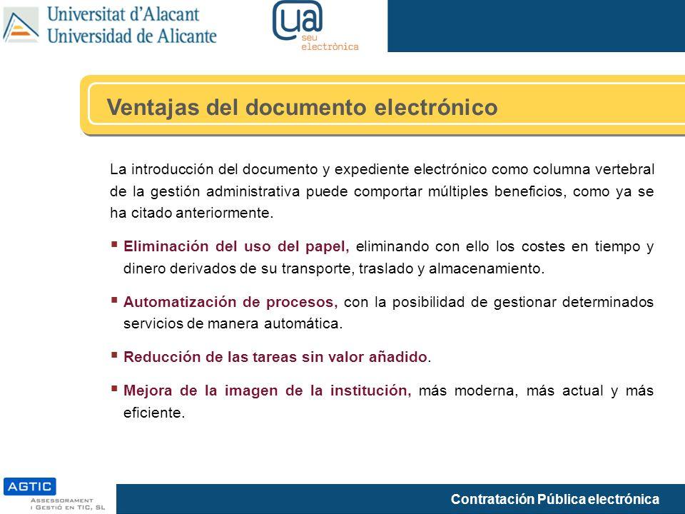 Ventajas del documento electrónico
