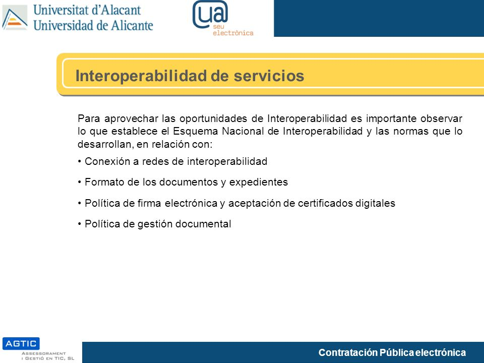 Interoperabilidad de servicios