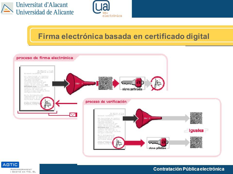 Firma electrónica basada en certificado digital