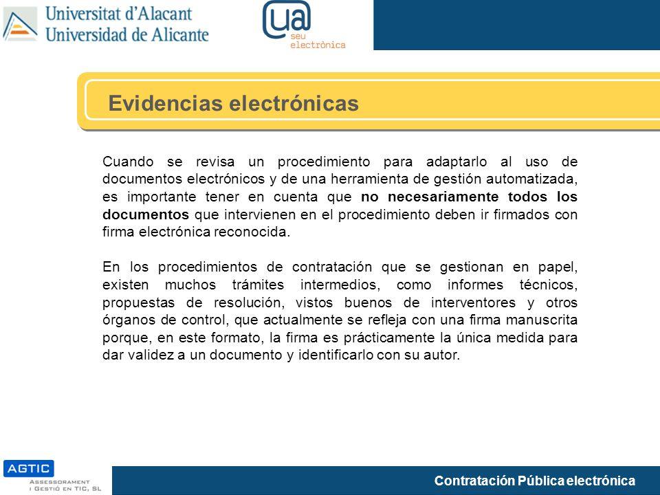 Evidencias electrónicas