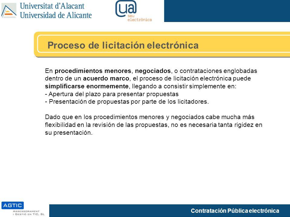 Proceso de licitación electrónica