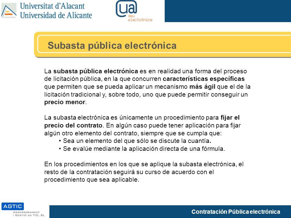 Subasta pública electrónica
