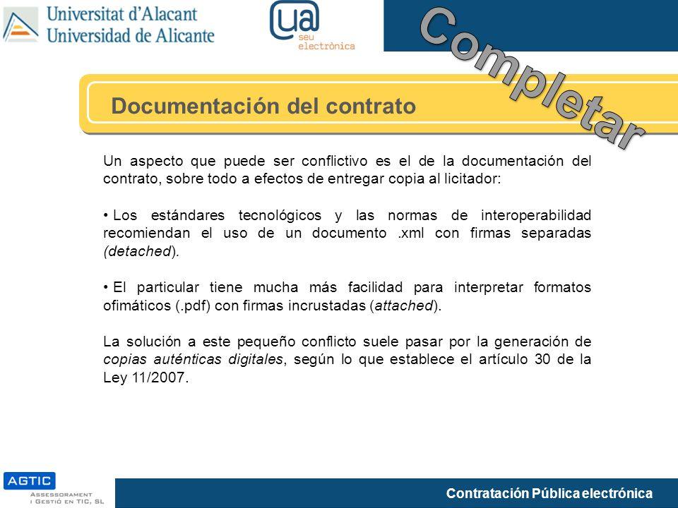 Completar Documentación del contrato