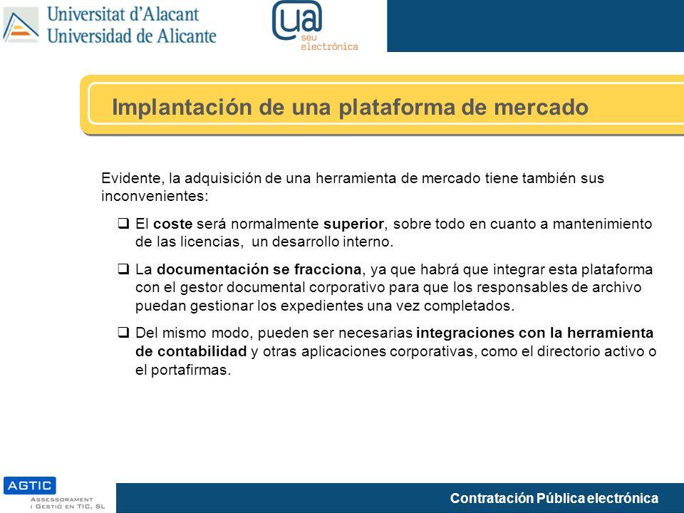 Implantación de una plataforma de mercado