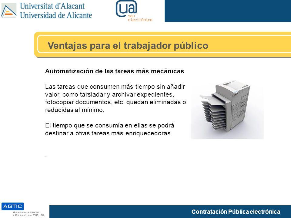 Ventajas para el trabajador público