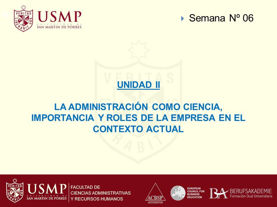 Semana Nº 06 UNIDAD II.