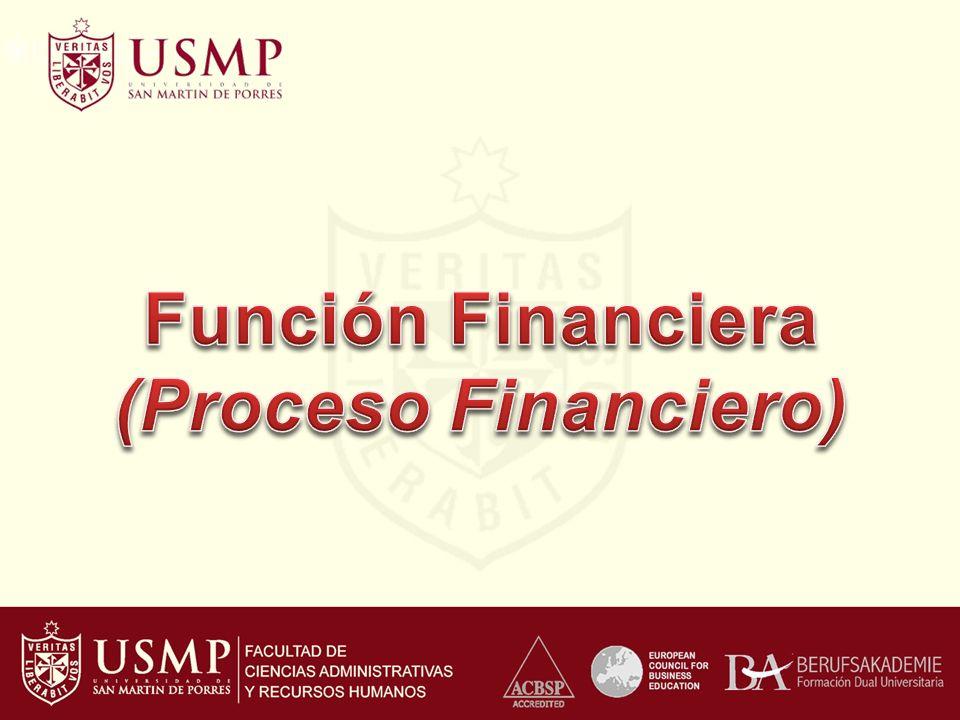 Función Financiera (Proceso Financiero)