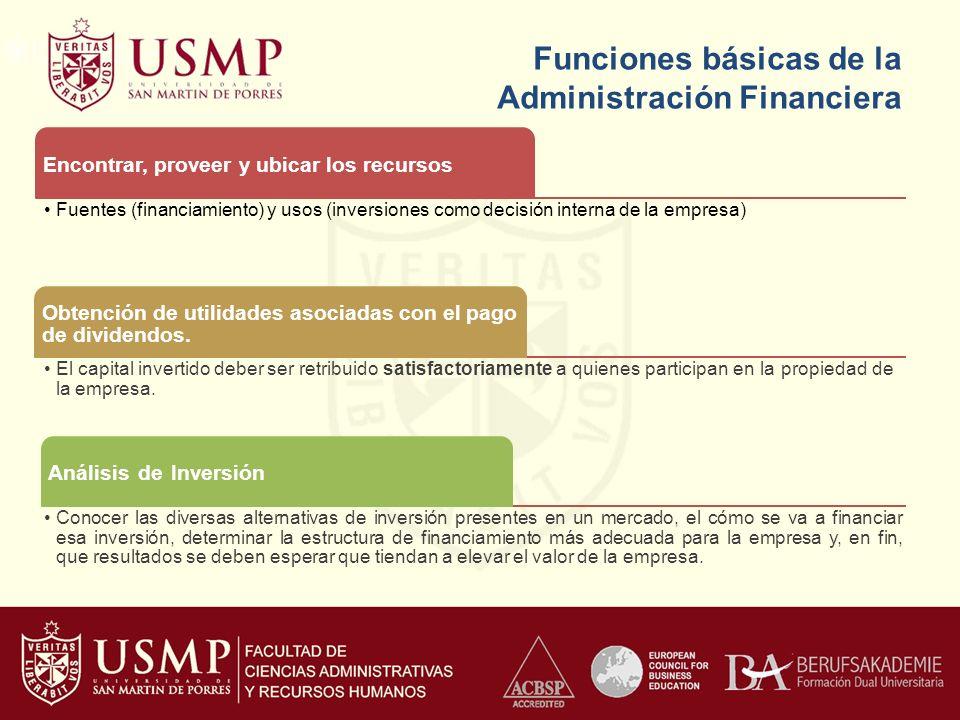 Funciones básicas de la Administración Financiera