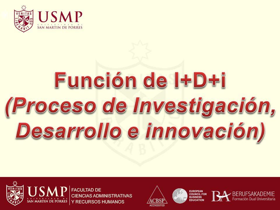 (Proceso de Investigación, Desarrollo e innovación)