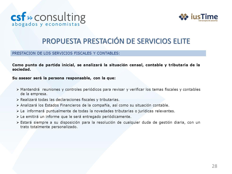 PROPUESTA PRESTACIÓN DE SERVICIOS ELITE