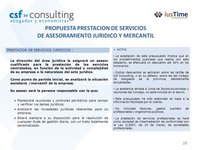 PROPUESTA PRESTACION DE SERVICIOS
