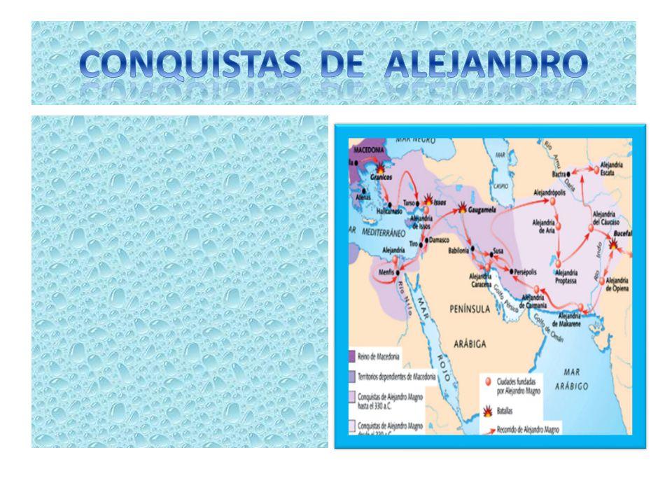 CONQUISTAS DE ALEJANDRO