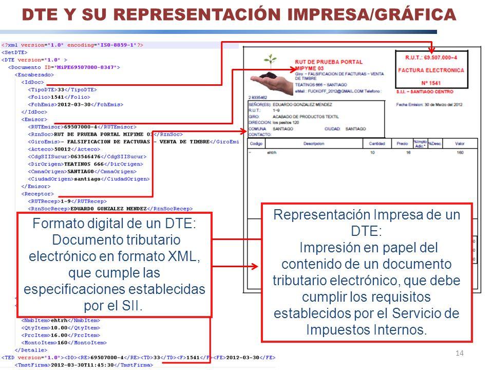 DTE Y SU REPRESENTACIÓN IMPRESA/GRÁFICA