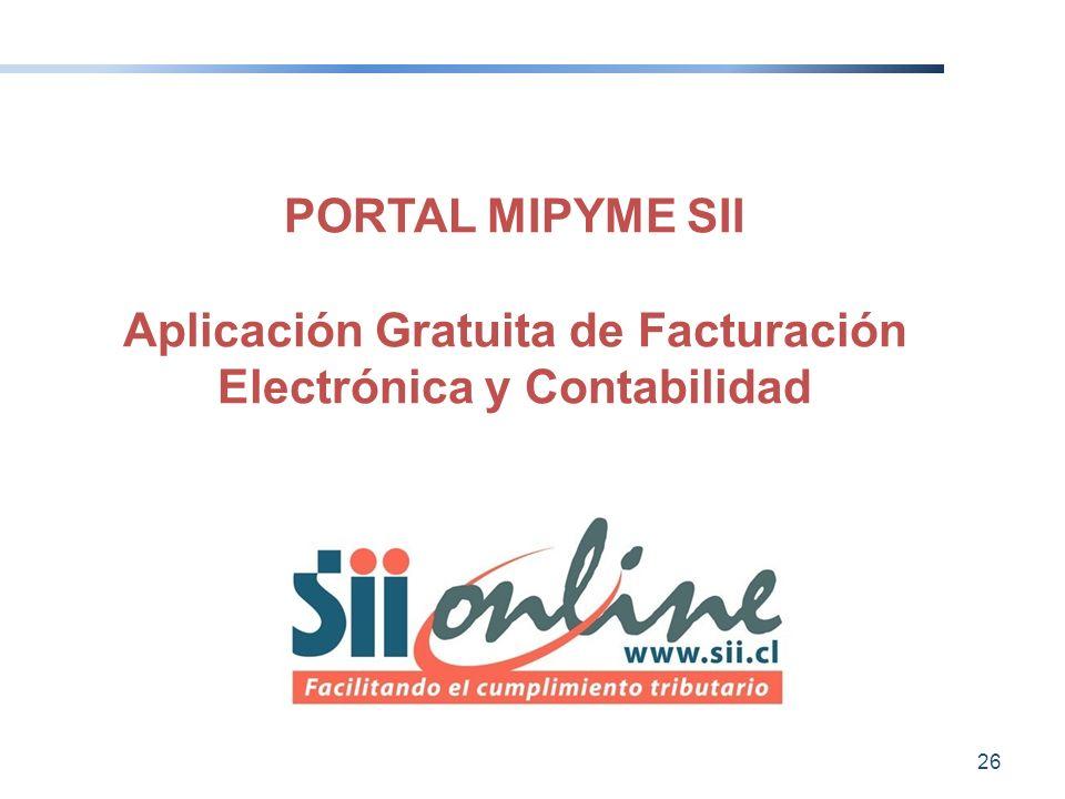 Aplicación Gratuita de Facturación Electrónica y Contabilidad