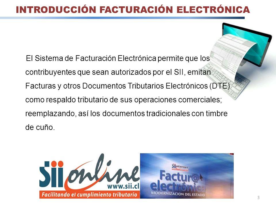 INTRODUCCIÓN FACTURACIÓN ELECTRÓNICA