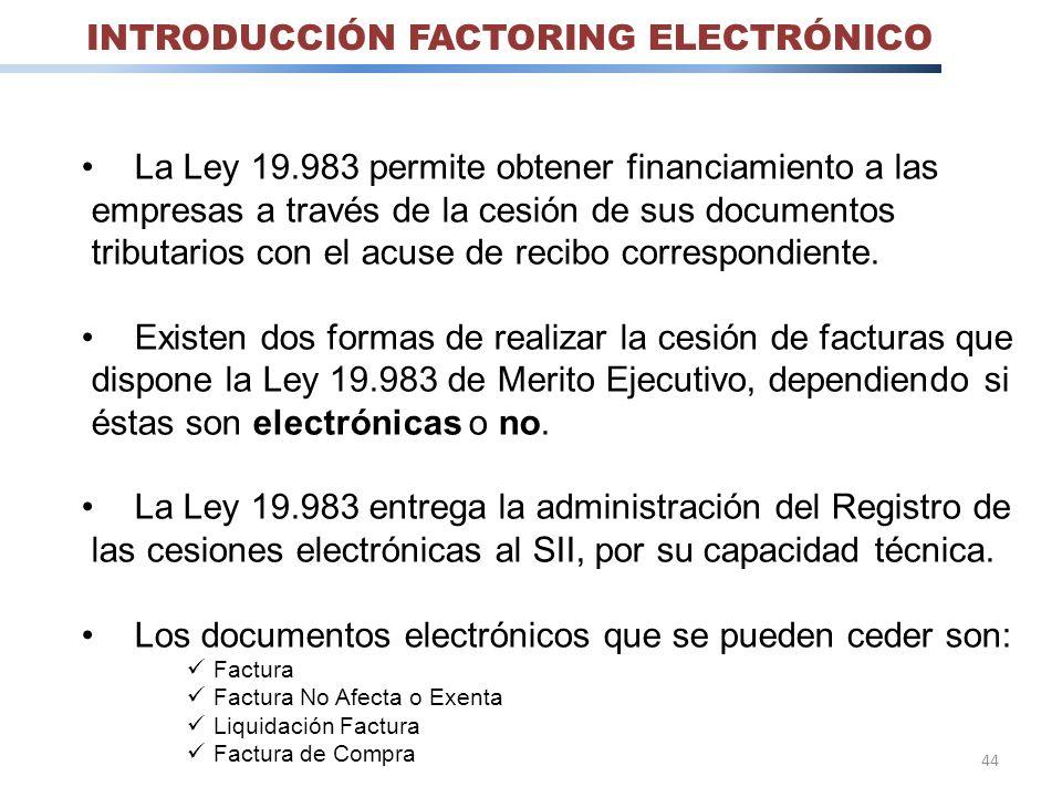 INTRODUCCIÓN FACTORING ELECTRÓNICO