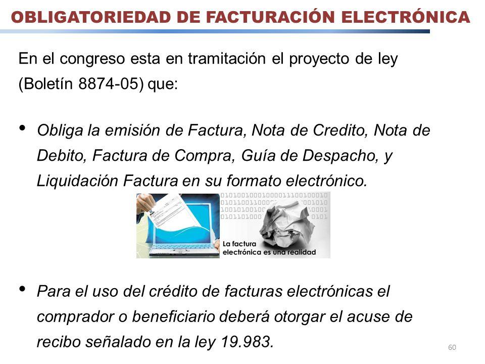 OBLIGATORIEDAD DE FACTURACIÓN ELECTRÓNICA