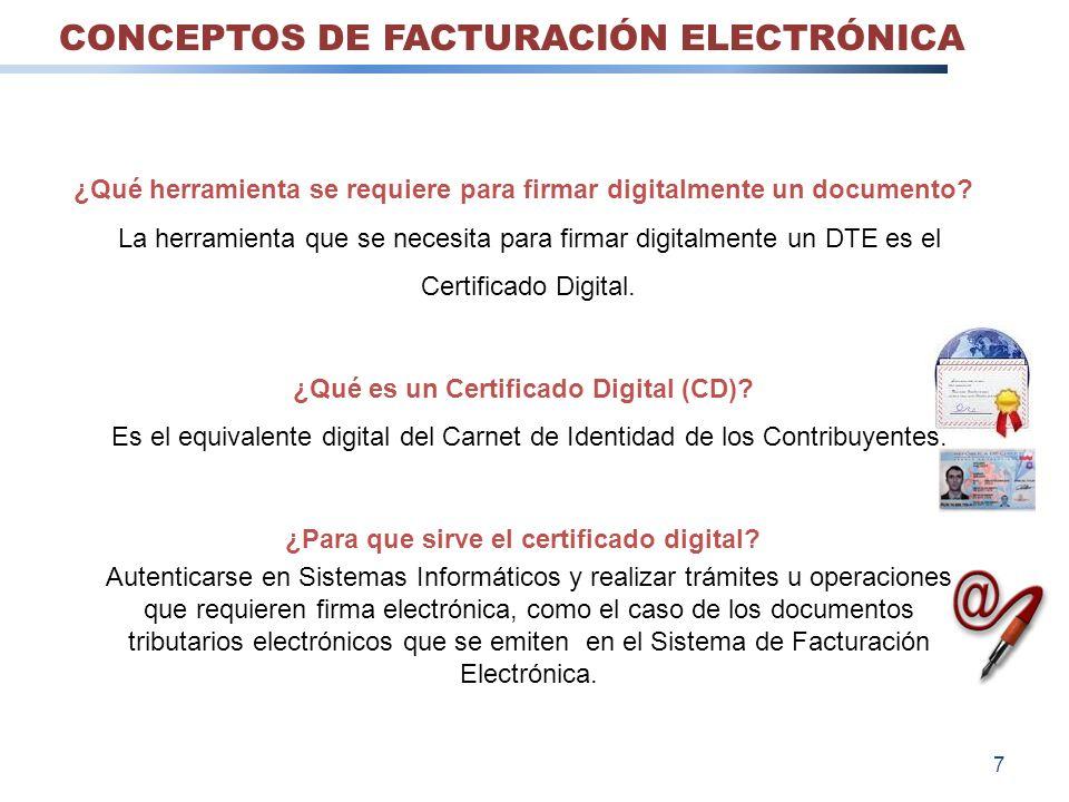 CONCEPTOS DE FACTURACIÓN ELECTRÓNICA