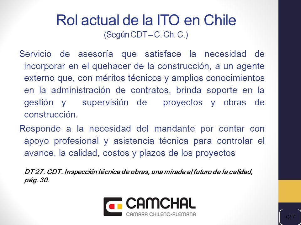 Rol actual de la ITO en Chile (Según CDT – C. Ch. C.)