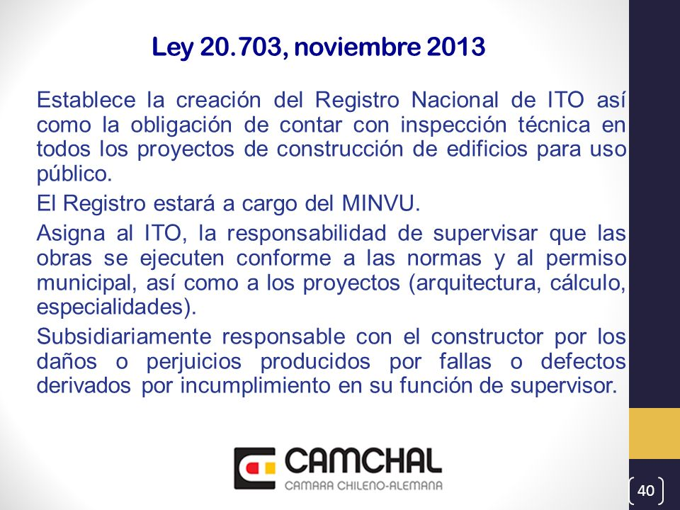 Ley 20.703, noviembre 2013