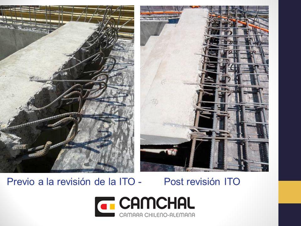 Previo a la revisión de la ITO - Post revisión ITO