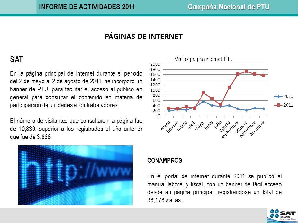 PÁGINAS DE INTERNET SAT