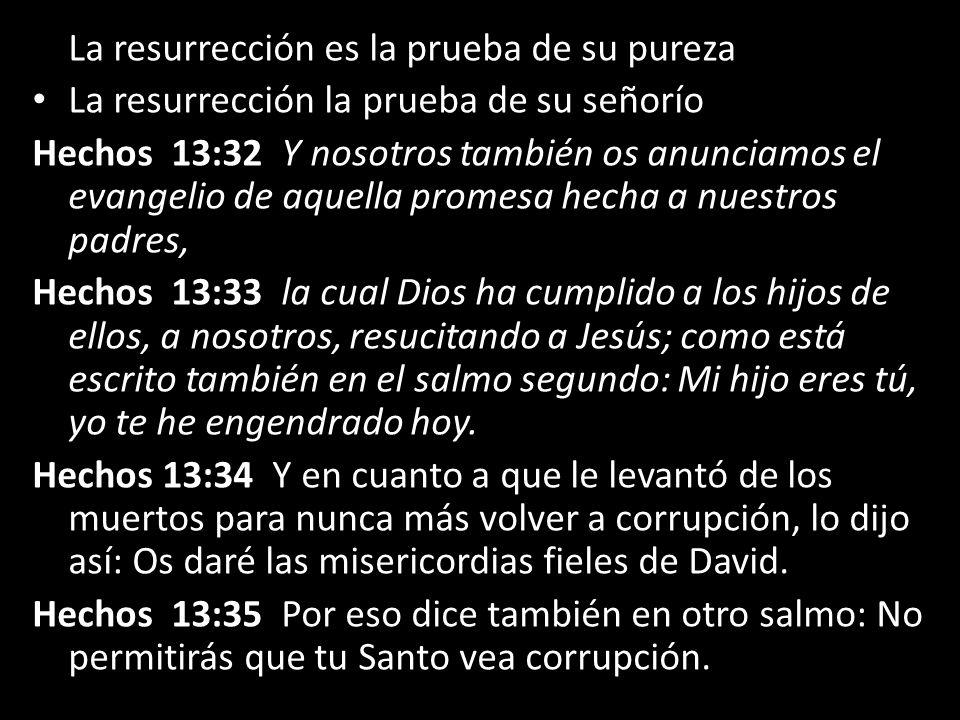 La resurrección es la prueba de su pureza