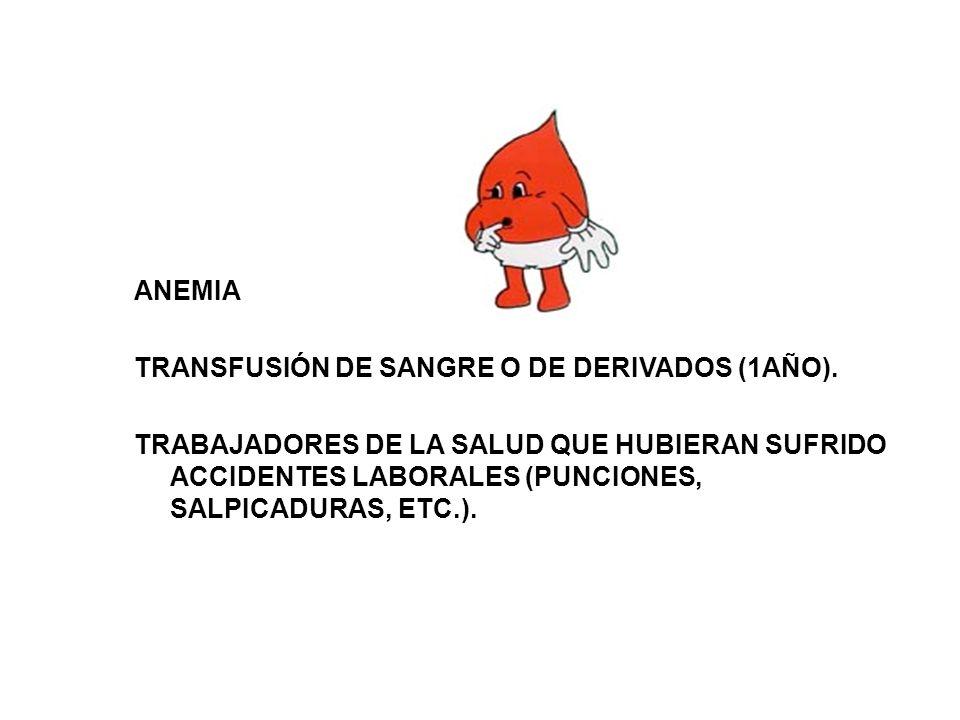 ANEMIA TRANSFUSIÓN DE SANGRE O DE DERIVADOS (1AÑO)