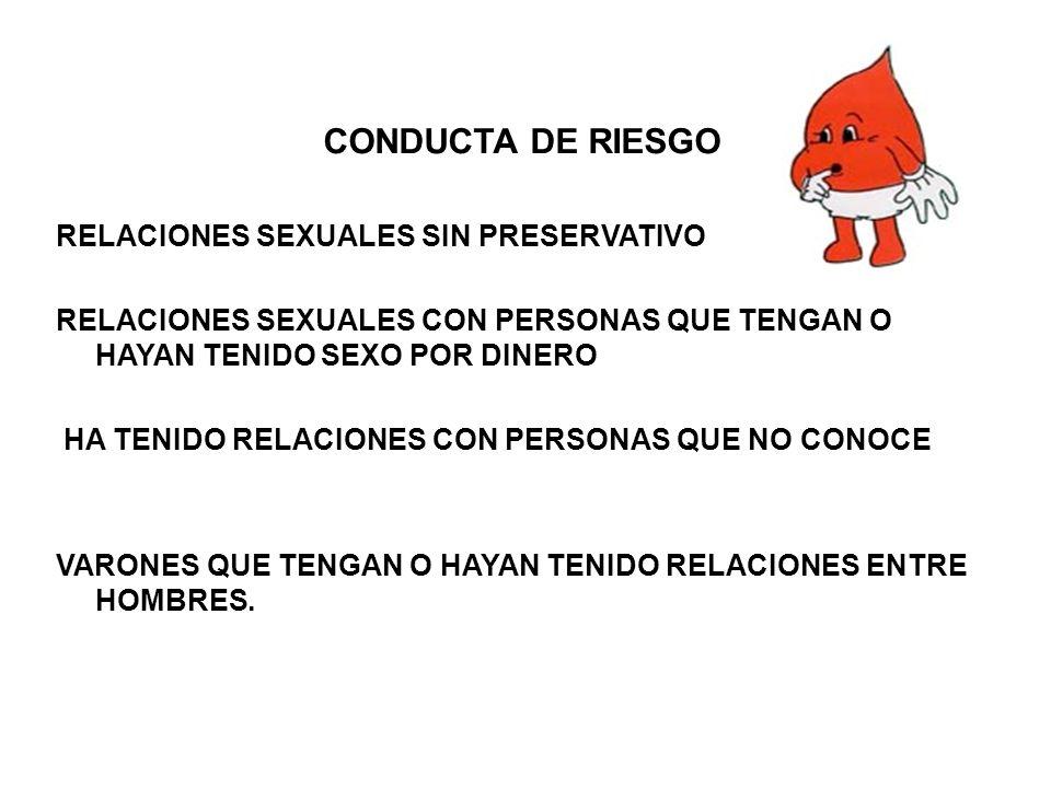 CONDUCTA DE RIESGO RELACIONES SEXUALES SIN PRESERVATIVO