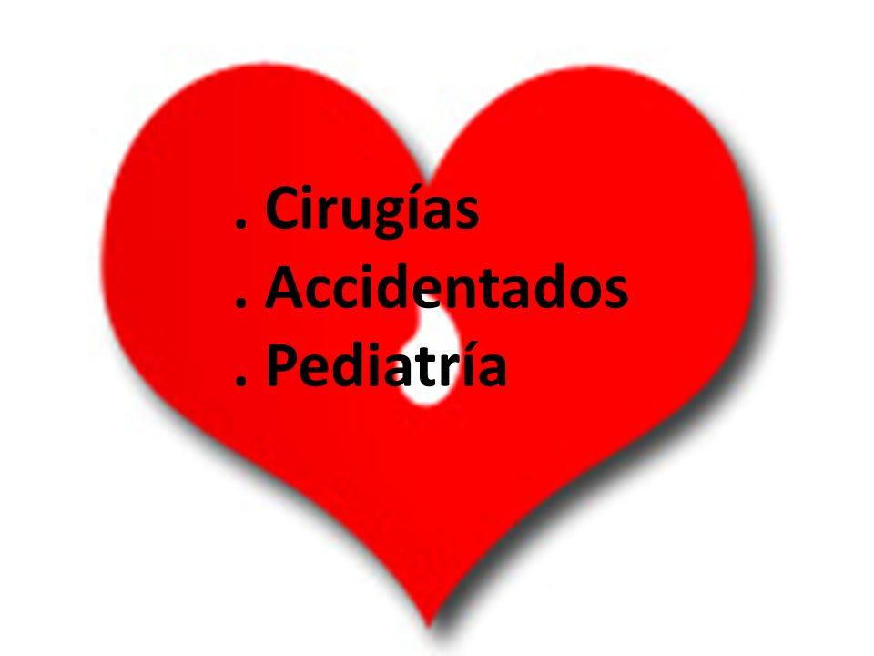 . Cirugías . Accidentados . Pediatría